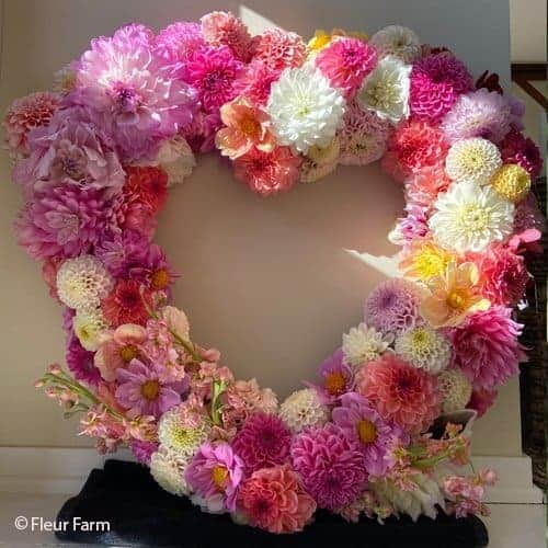 Heart Arrangement @FleurFarm
